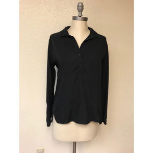 Anthropologie black long sleeve, small